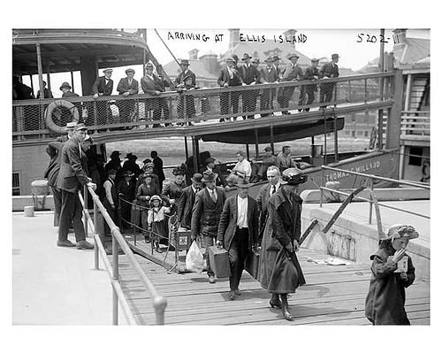 Immigrants arriving at Ellis Island 1911
