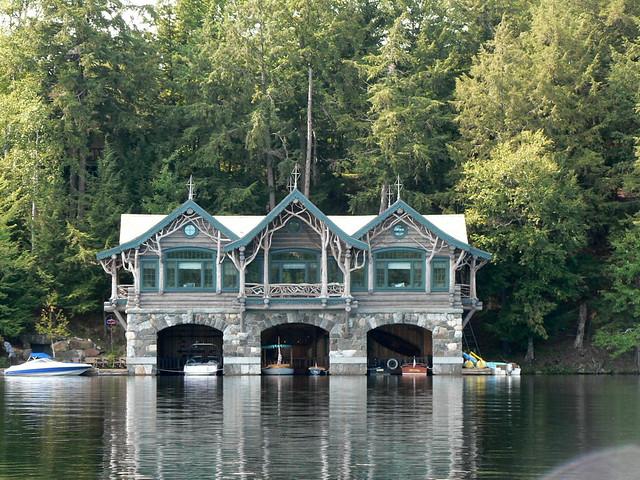 Adirondack boathouse flickr photo sharing for Adirondack lake house plans