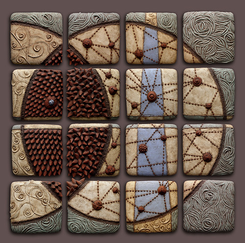 Mandorla ceramic mural measuring 50in x 50in x 2in by for Clay tile mural