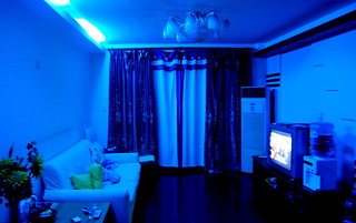 Living Room In Home Cinema Mode