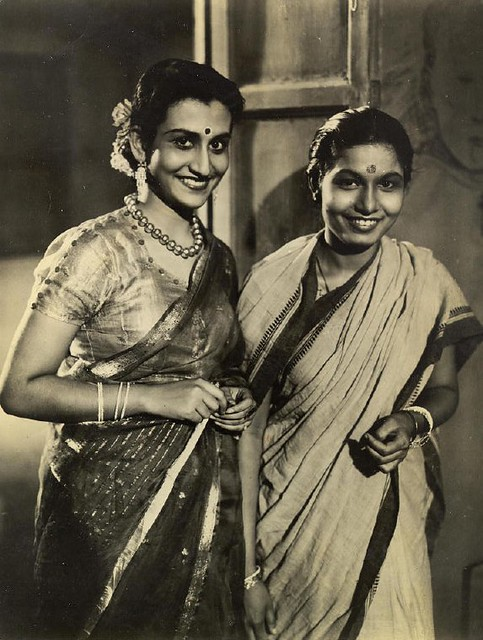 Binota Bose (left) and Mrs. Rekha Mullick - Indian Actors of that time