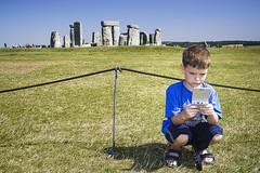Game Boy at Stonehenge