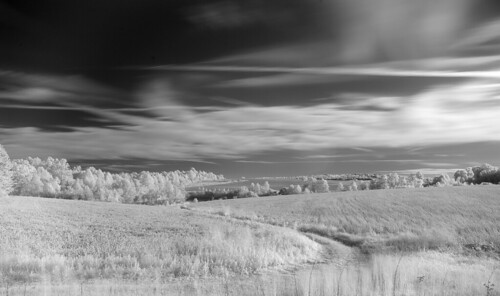 autumn trees sky fall clouds rural landscape south carolina infrared fields pastoral