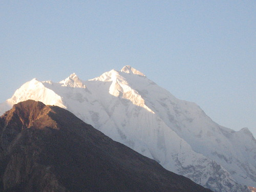 Rakaposhi Peak, from Duikar viewpoint, sunrise