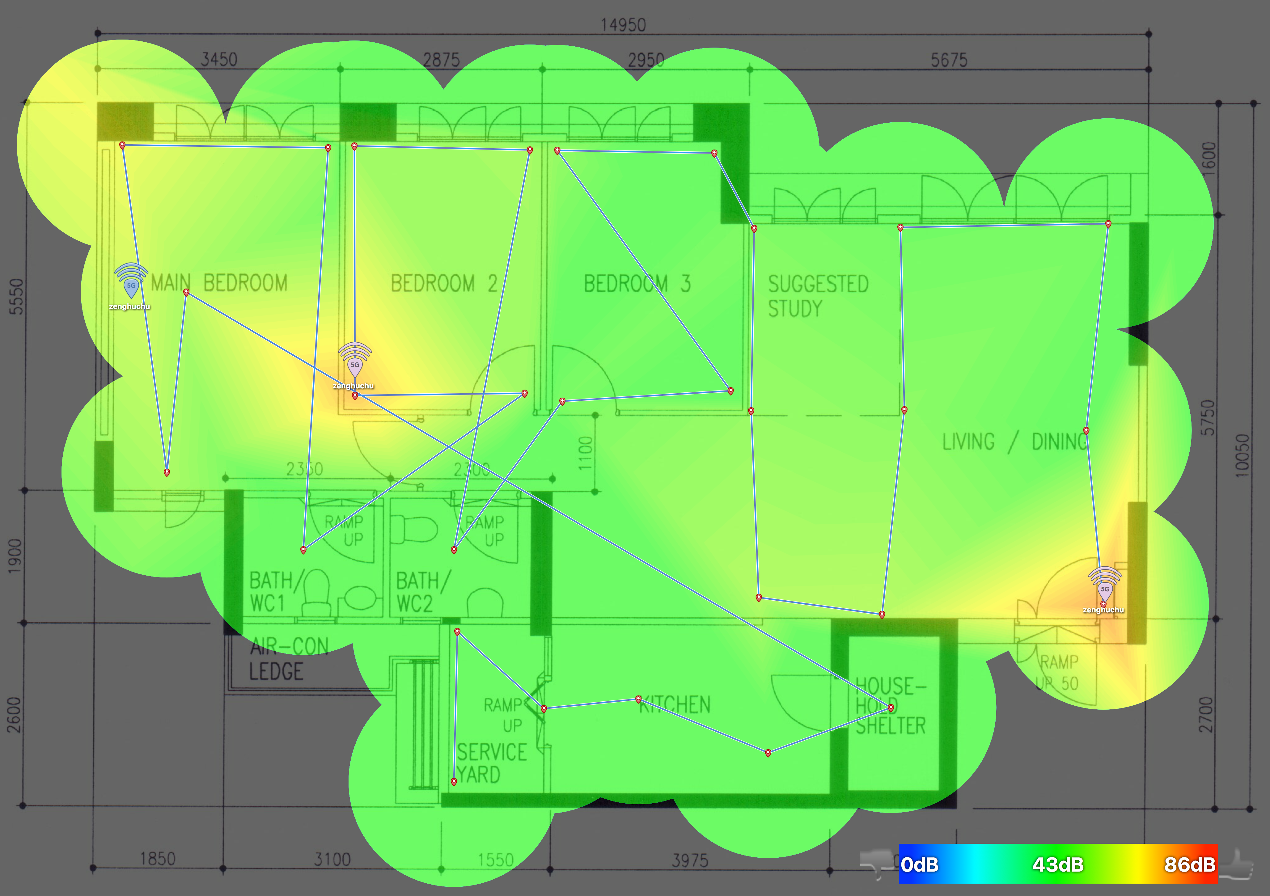 Linksys Velop Review Blog Wired Network Diagram Heat Eero 50ghz Heatmap