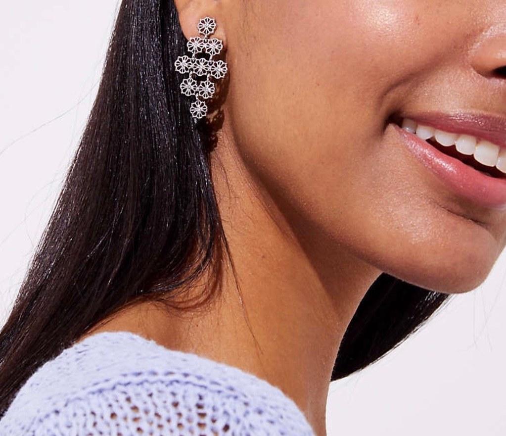 LOFT Filigree Chandelier Earrings