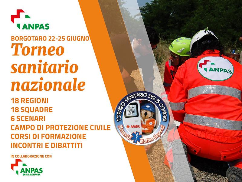 Il torneo Sanitario Nazionale Anpas,  22-24 giugno 2018 Borgo Val di Taro