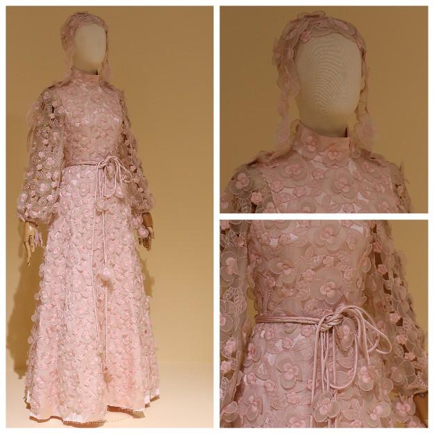 Вечернее ажурное платье из органзы. Париж, 1970-е.