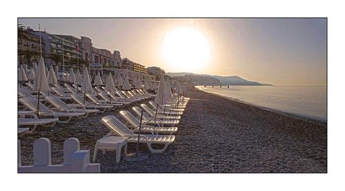 aube alba sunset chaises nice nissa la bella costa azzurra french riviera