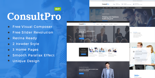 ConsultPro v1.4 – Business, Finance and Consultancy WordPress Theme