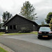 Our car and cabin at the Moness Country Club in Aberfeldy Scotland