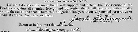 Potpis Jakova Batinovića iz zahtjeva za izdavanje putovnice