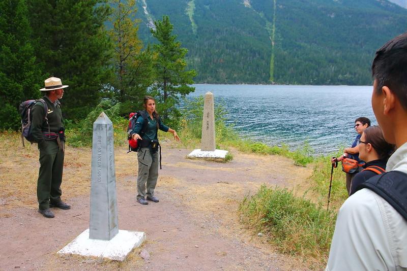 IMG_6544 Glacier National Park Ranger and Waterton Lakes National Park Interpreter at US-Canada Border