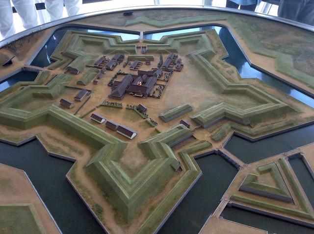 函館 箱館戦争当時の五稜郭 復元模型 190_2