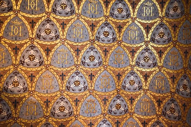 Embelished Ceilings at Château de Blois #loire #france #chateau #travel