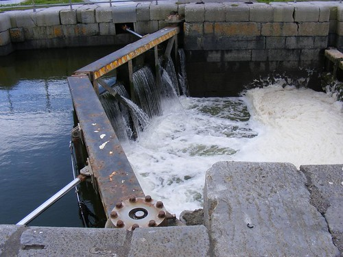Tralee Ship Canal lock gate