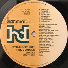 JUNGLE BROTHERS:STRAIGHT OUT THE JUNGLE(LABEL SIDE-A)
