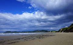 Moeraki Beach without boulders
