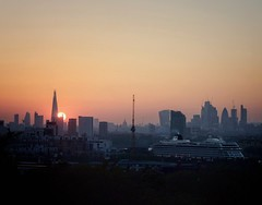Sunset from Greenwich Park.