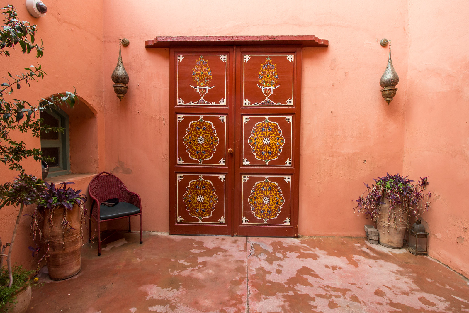 Red door in Marrakech
