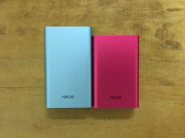左為雙輸出版本、右為單輸出@ASUS ZenPower Duo 10050行動電源