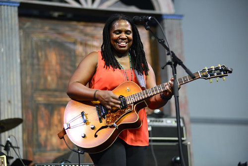 Ruthie Foster on Day 5 of Jazz Fest - 5.4.18. Photo by Leon Morris.