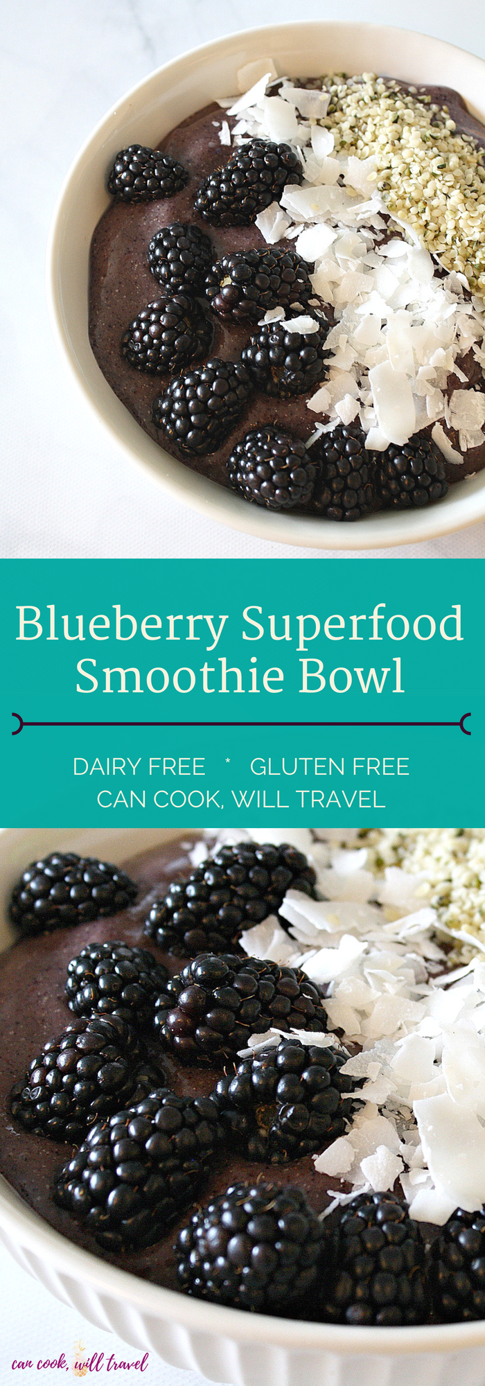 Blueberry Superfood Smoothie Bowl_Collage1