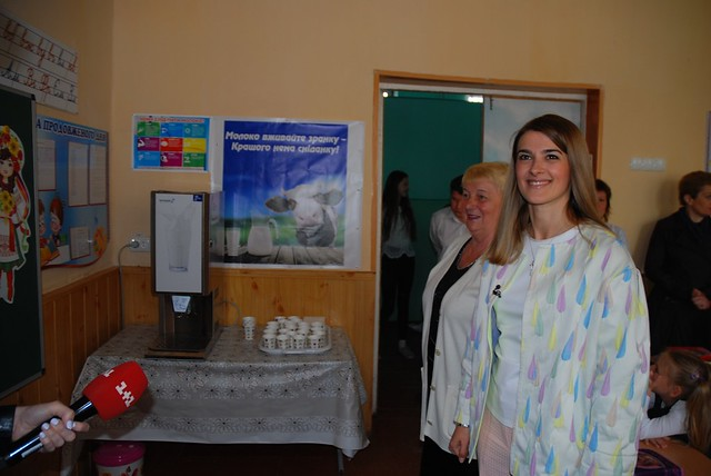 Молокомати від Лариси Білозір уТульчинських школах