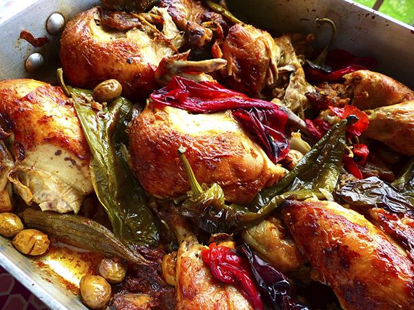 poulet aux poivrons