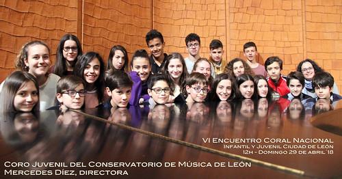 """CORO JUVENIL DEL CONSERVATORIO DE LEÓN - VI ENCUENTRO CORAL NACIONAL INFANTIL Y JUVENIL """"CIUDAD DE LEÓN"""" - DOMINGO 29 DE ABRIL´18 - AUDITORIO CIUDAD DE LEÓN - 12H"""