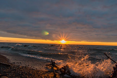 sunset lake erie bluffs
