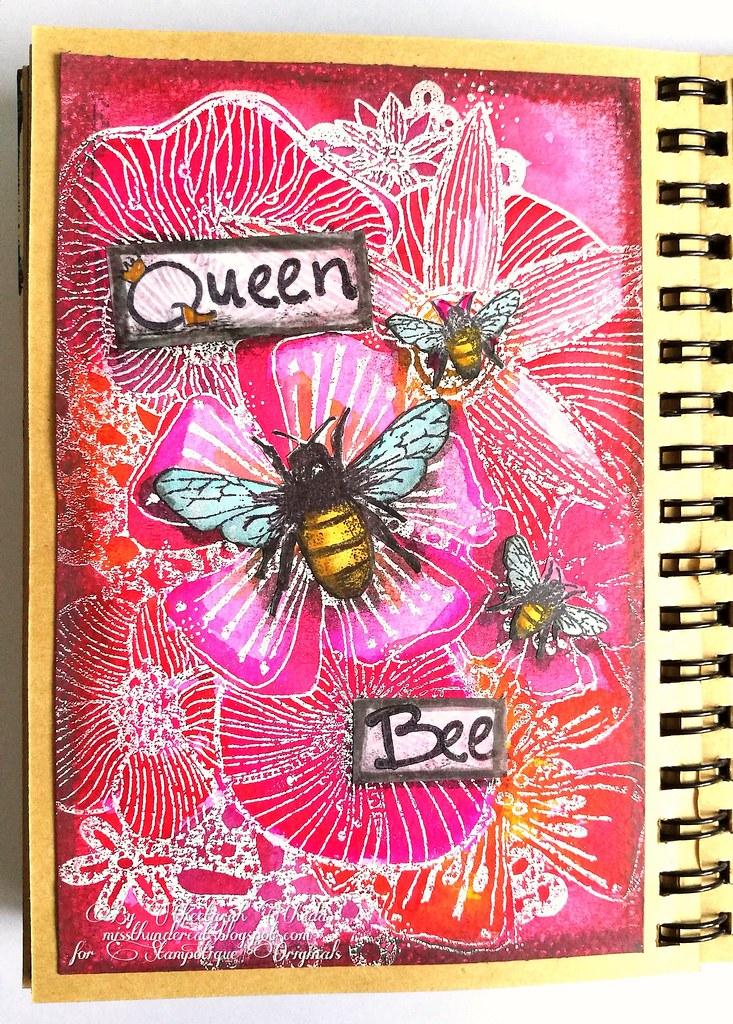Floral queen bee
