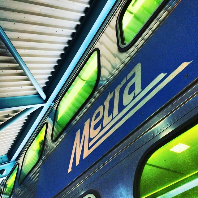 My ride home (Metra train, public domain)