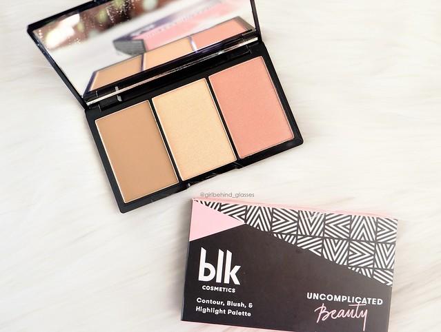 BLK Cosmetics Contour, Blush & Highlight Flushed Palette2