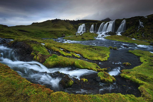 waterfall in the Highlands of Iceland!