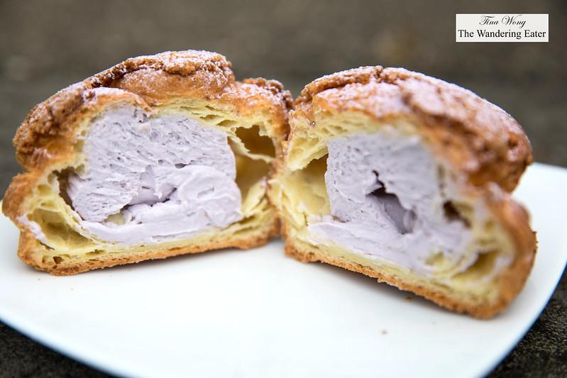 Ube cream puff