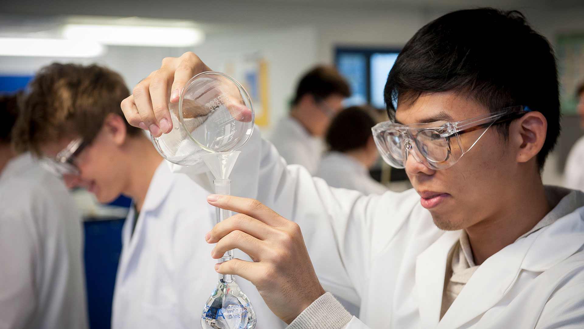 Students in the undergraduate chemistry lab