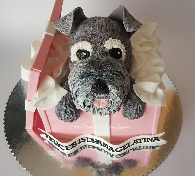 Cute Dog Cake by Sheila Alvarado of Sweet Sensations Cake Design