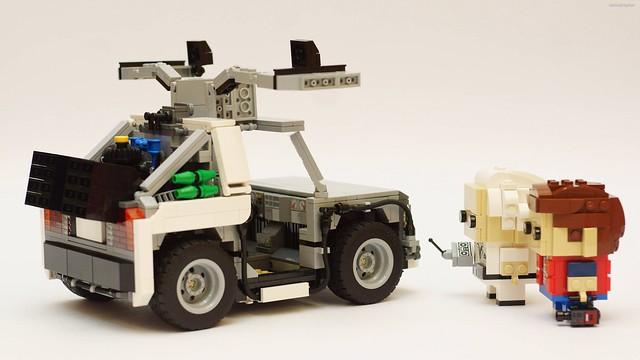 une delorean pour les lego brickheadz retour vers le futur hellobricks blog lego. Black Bedroom Furniture Sets. Home Design Ideas