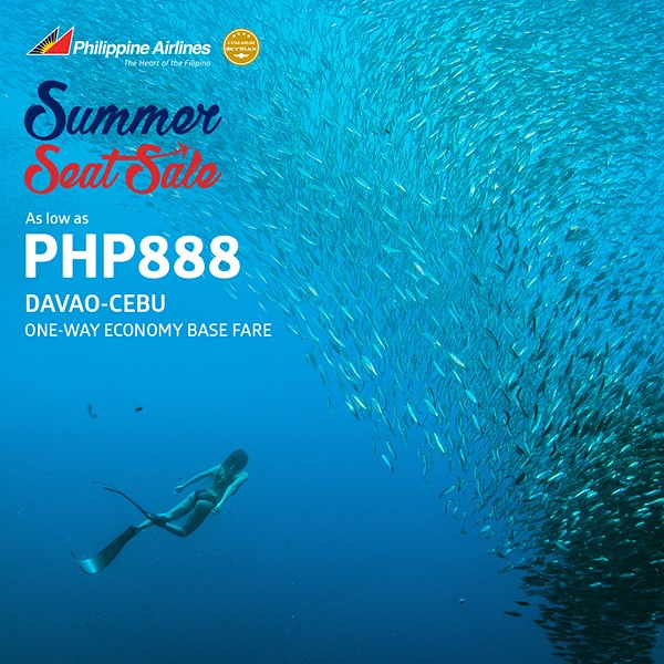 Philippine Airlines Summer Seat Sale Davao to Cebu