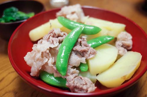 豚肉ジャガイモスナップエンドウ-3
