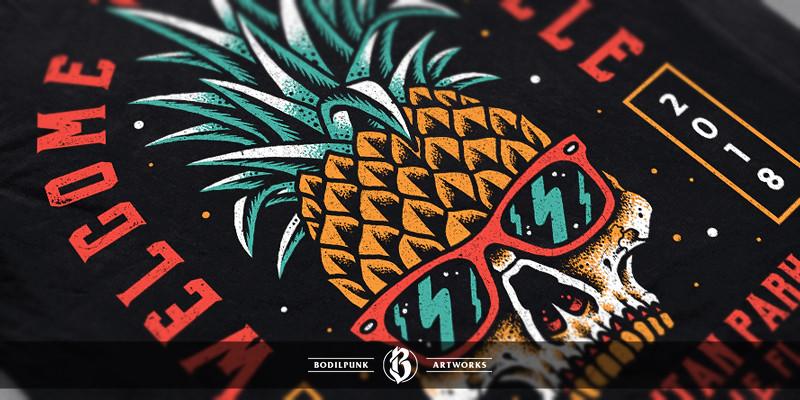 Details - Pineapple Skull