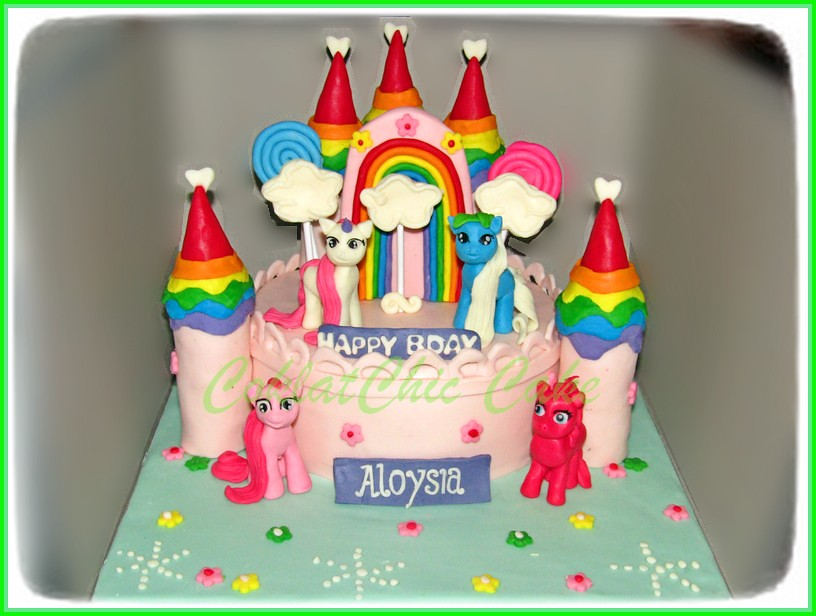 Cake My Little Pony Castle ALOYSIA 18 cm