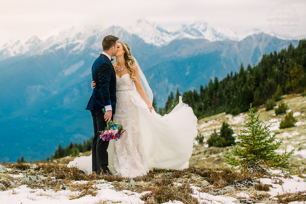 Mount Terry Fox Helicopter Wedding Elopement
