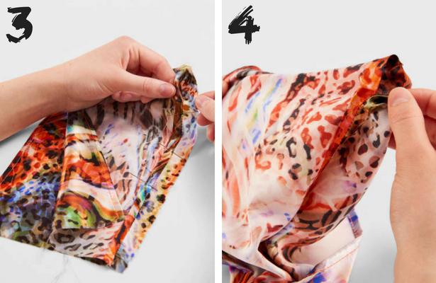 Wrap Headband Steps 3 4