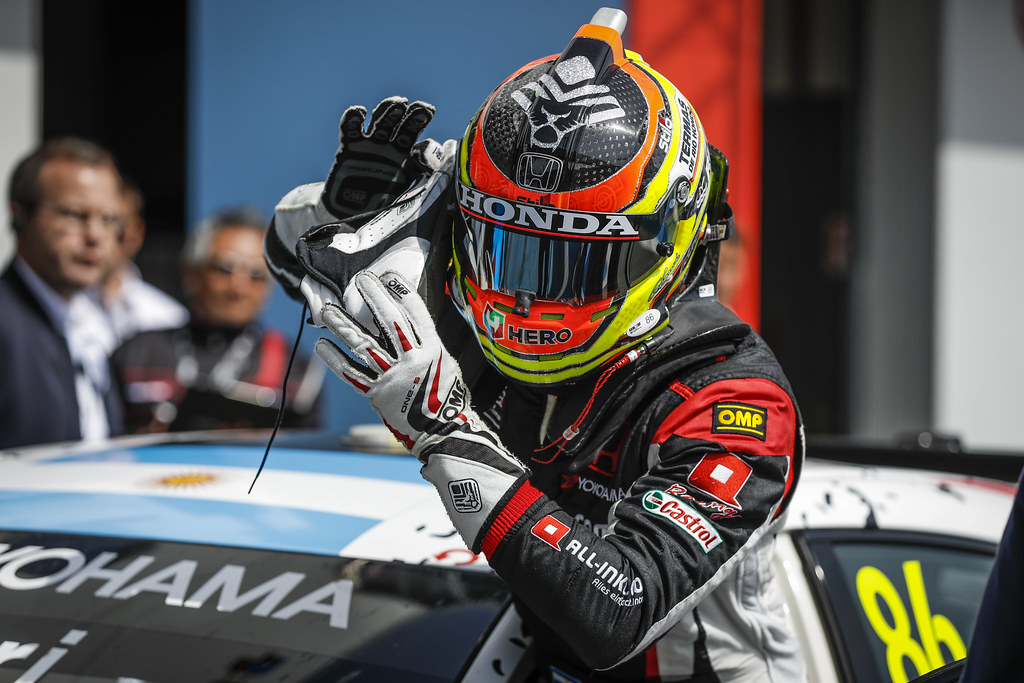 GUERRIERI Esteban (ARG), ALL-INKL.COM Munnich Motorsport, Honda Civic  TCR, celebrating victory during the 2018 FIA WTCR World Touring Car cup of Nurburgring, Nordschleife, Germany from May 10 to 12 - Photo Florent Gooden / DPPI
