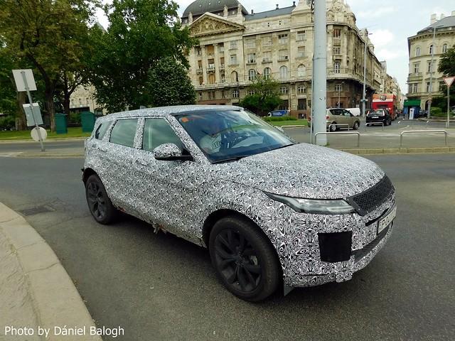 Land Rover Range Rover Evoque Hybrid 2019. Spy Shot!!