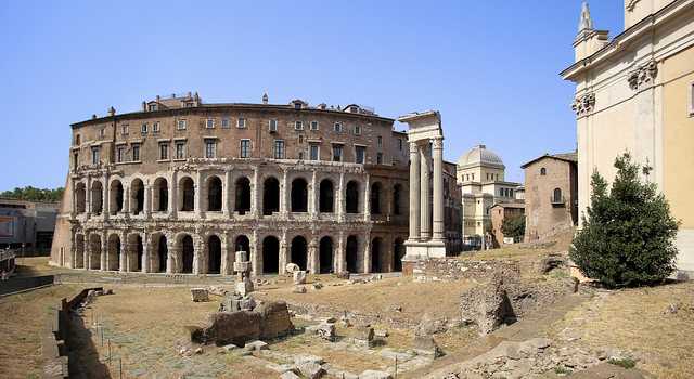 Teatro di Marcello is an amphitheater in the Ancient Roman times