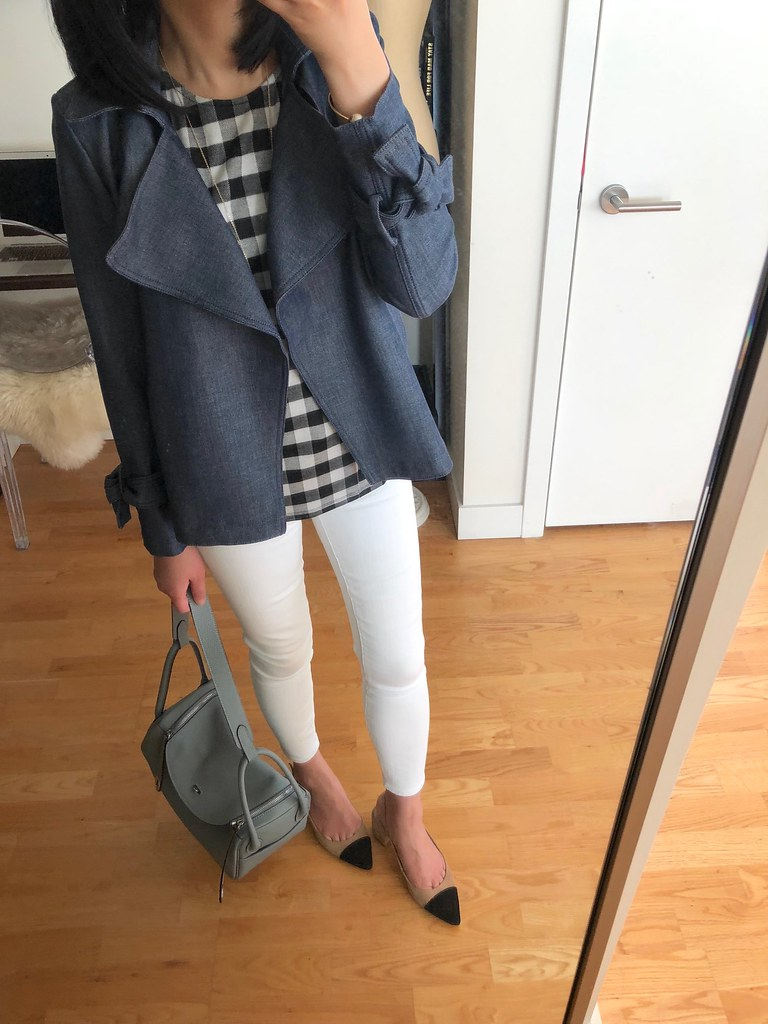 Ann Taylor Chambray Trench Coat, size 00P