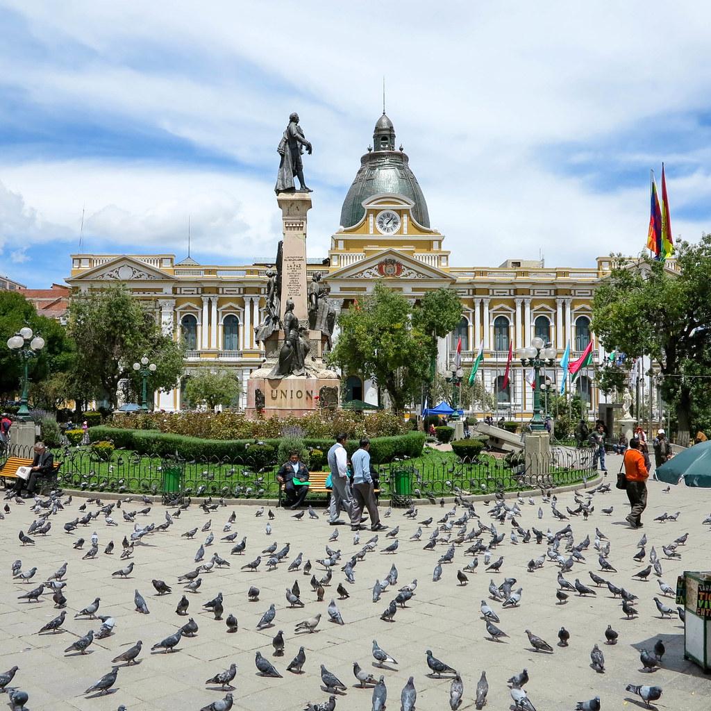 Plaza central de La Paz